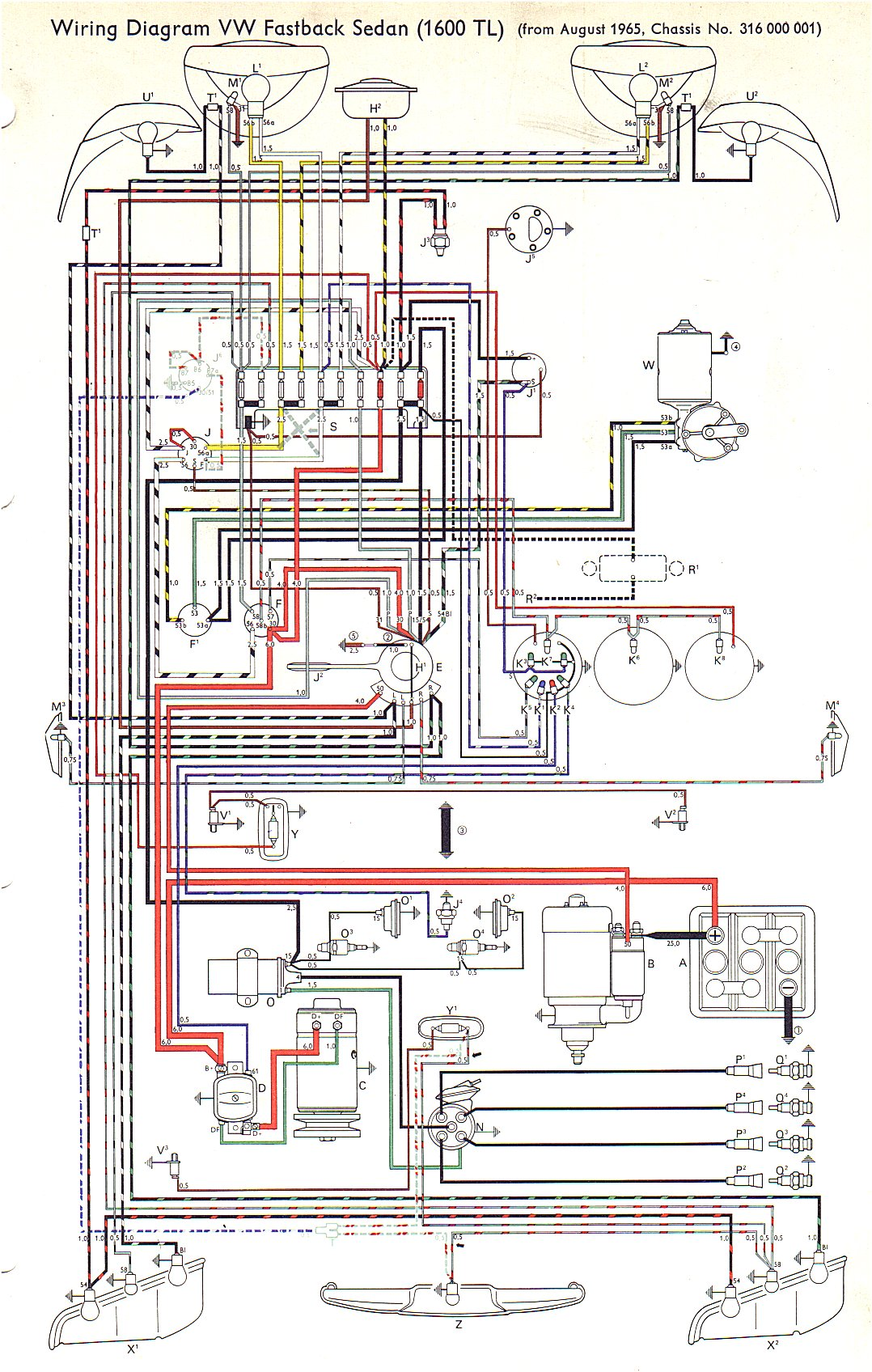 wire66tl vw type 3 wiring diagrams 1968 vw type 3 wiring diagram at gsmx.co